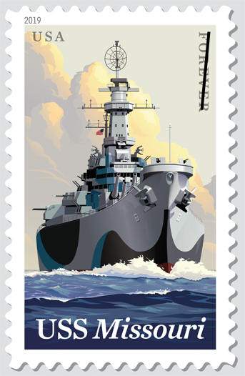 USSMissouri_stamp