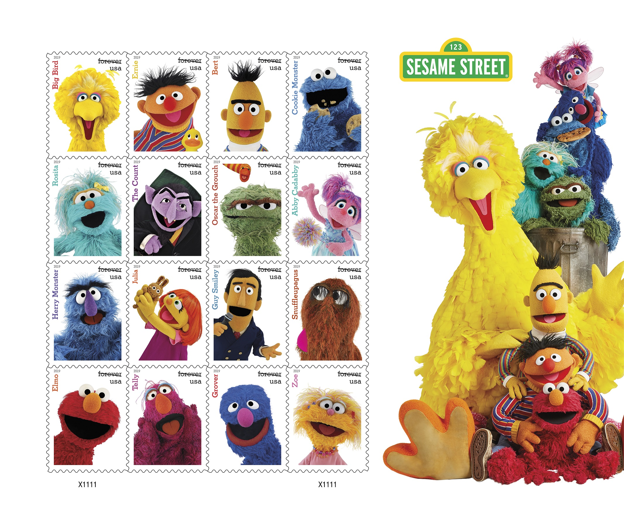 Celebrate 50 Years of Sesame Street with the U S  Postal Service