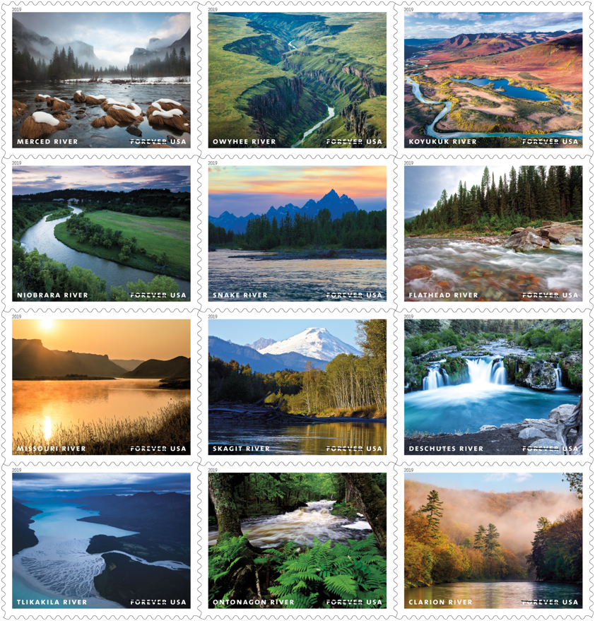 Us Postal Christmas Stamps 2019 Upcoming US Postal Service Release: Wild and Scenic Rivers Forever