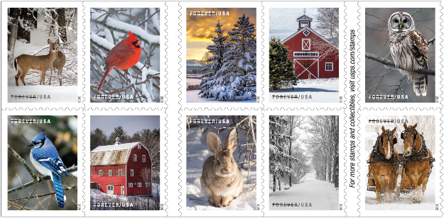 Us Post Office Christmas Stamps 2020 USPS announces 2020 Holiday stamps