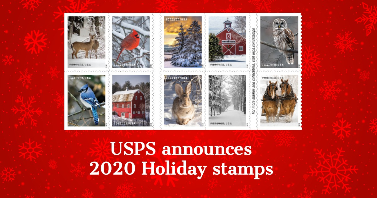 Usps 2020 Christmas Stamps USPS announces 2020 Holiday stamps