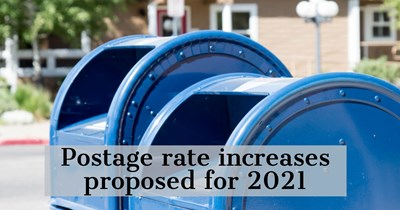 Postage rate increases proposed for 2021