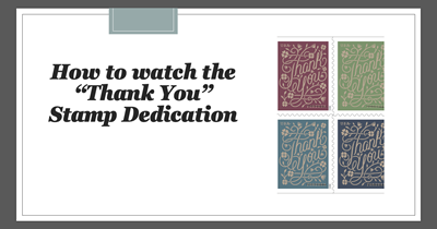 "Watch the ""Thank You"" Stamp Dedication"