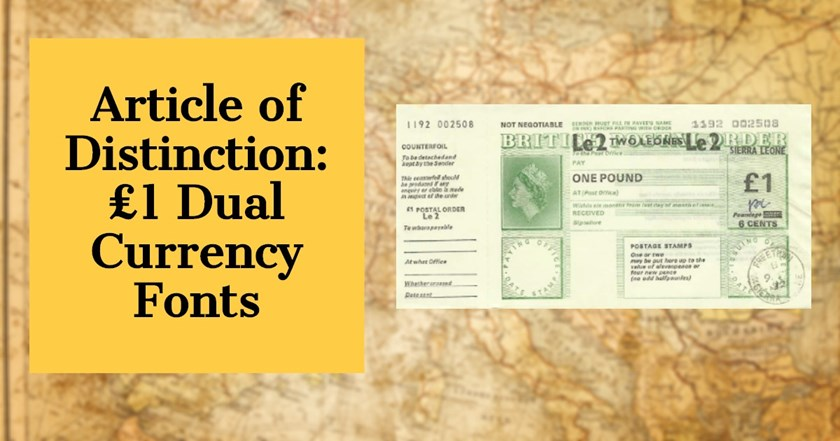 Article of Distinction: £1 Dual Currency Fonts