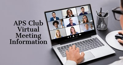 APS Clubs use virtual meetings to connect with fellow members