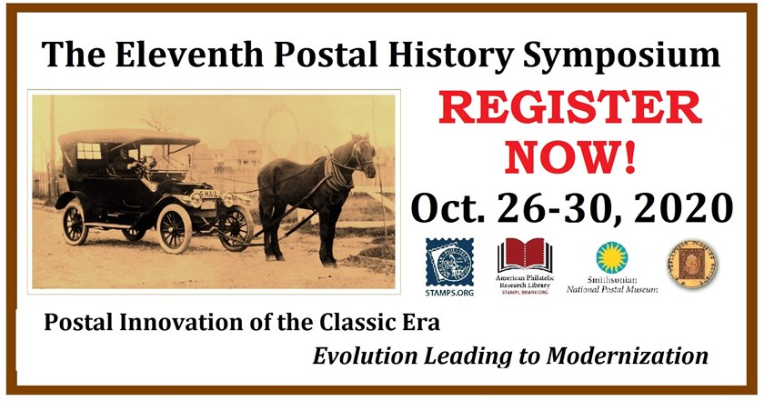 Register Now for the 2020 Postal History Symposium!