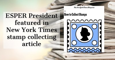 ESPER President featured in New York Times stamp collecting article