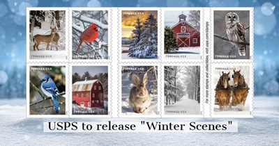 "Holiday 2020: USPS to release ""Winter Scenes"""