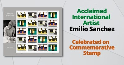 Legacy of Acclaimed International Artist Emilio Sanchez Celebrated on U.S. Postal Service Commemorative Forever Stamps