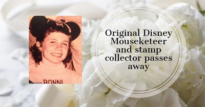 Original Disney Mouseketeer and stamp collector passes away