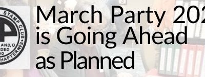 March Party 2021 is Going Ahead as Planned