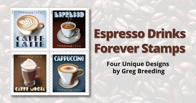 Coffee Anyone? Espresso Drinks Stamps Receive Scott Catalog Numbers