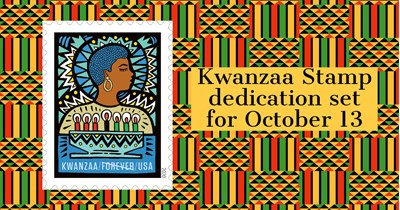 Holiday 2020: Kwanzaa Stamp dedication set for October 13