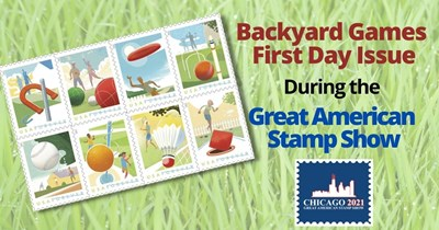 Backyard Games First Day Issue Launching at the Great American Stamp Show