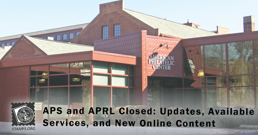 APS and APRL Closed for COVID-19; Some Services Still Available