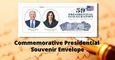 Commemorative Presidential Souvenir Envelope Available Today
