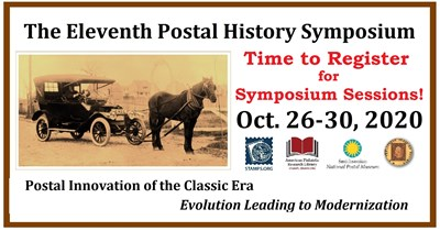 Register Now for Postal History Symposium Sessions!