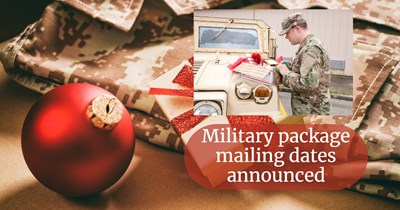 Holiday 2020: Military package mailing dates announced