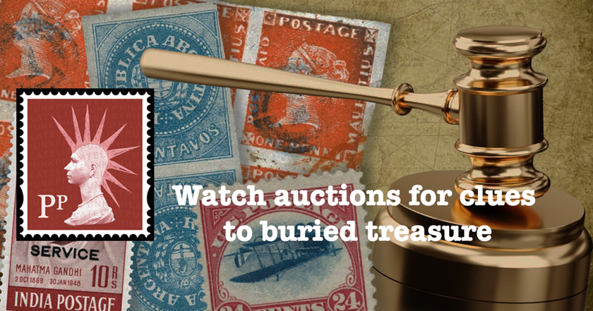 The Punk Philatelist: Watch auctions for clues to buried treasure