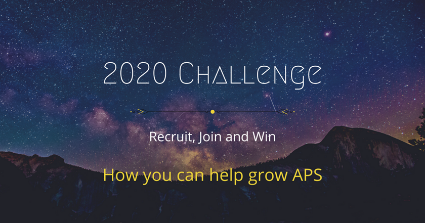 The 2020 Challenge Continues: Win a FREE APS Life Membership!