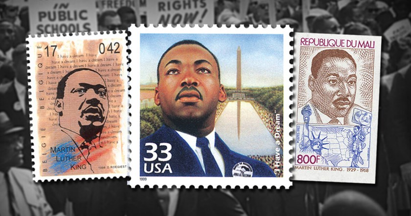 Dr. Martin Luther King Jr. on Worldwide Stamps
