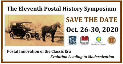 2020 Postal History Symposium Goes Virtual