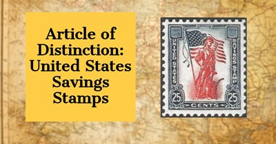 Article of Distinction: United States Savings Stamps