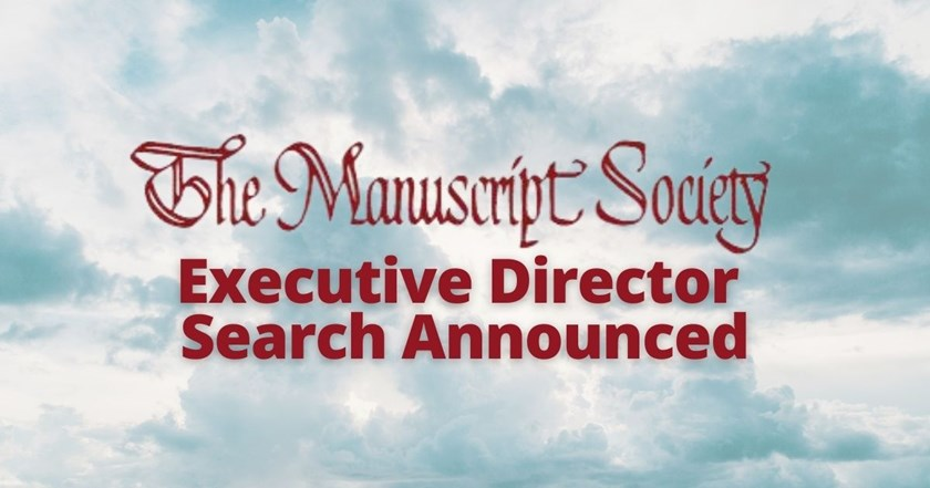 The Manuscript Society Announces Opening of Executive Director Position