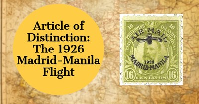Article of Distinction: The 1926 Madrid-Manila Flight