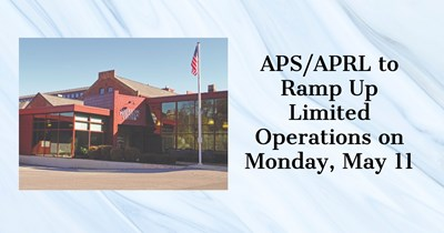 APS/APRL Ramp-Up Operations on May 11, 2020