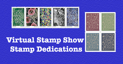 Two First Day Cover dedications planned for Virtual Stamp Show