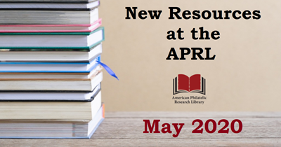 New Resources at the APRL, May 2020