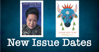 Issue dates set for Year of the Ox and Chien-Shiung Wu stamps