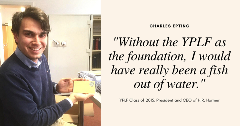"""It's been the greatest couple of years in my life"": Charles Epting reflects on YPLF and his career at H.R. Harmer"