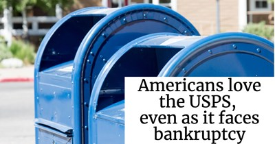 Americans love the USPS, even as it faces bankruptcy