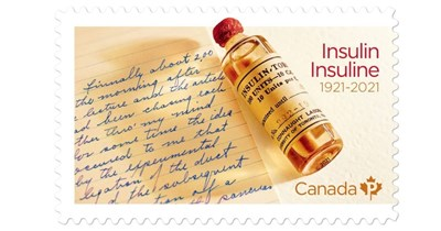 New Stamp Marks 100th Anniversary of Insulin's Discovery