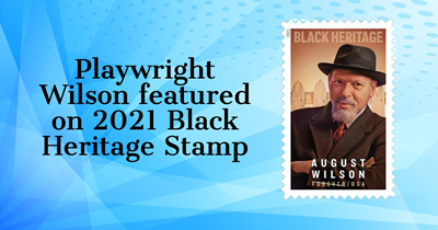 Playwright Wilson featured on 2021 Black Heritage Stamp