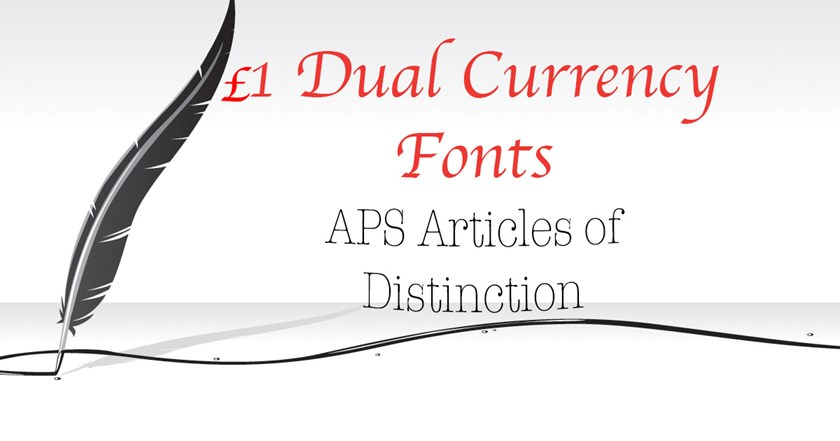 £1 Dual Currency Fonts