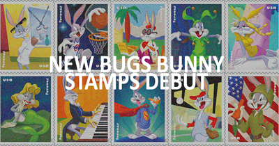 New Bugs Bunny stamps debut