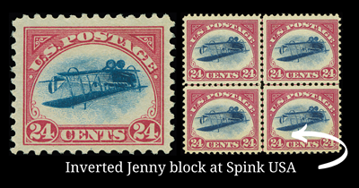 The beautiful center Inverted Jenny block could belong to you - for 3 million dollars