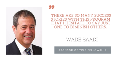 """There are so many success stories"": YPLF donor and APS past-President Wade Saadi"