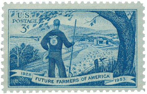 Scott 1024 - 1953 3c Future Farmers America