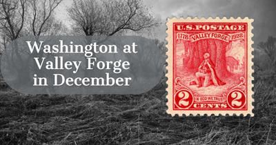 Washington at Valley Forge in December