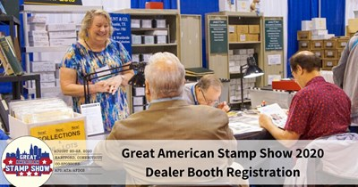 Dealer Deadline Approaches for Great American Stamp Show 2020
