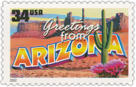 Greetings from Arizona - US Stamp