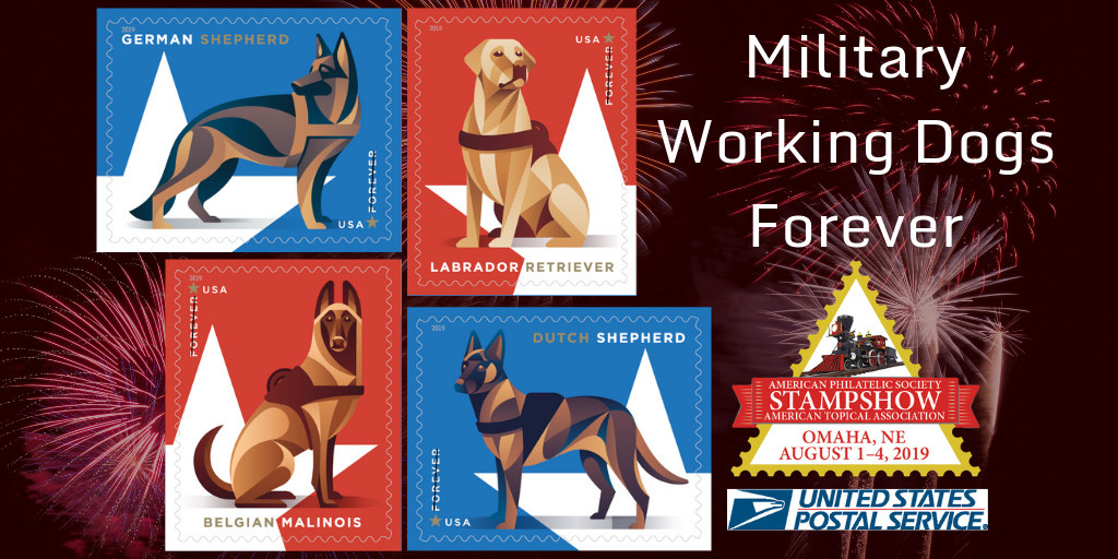 Military Working Dogs Forever Comes to StampShow 2019