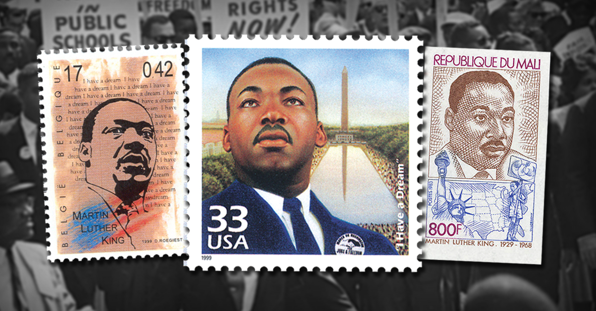 Dr Martin Luther King Jr On Worldwide Stamps