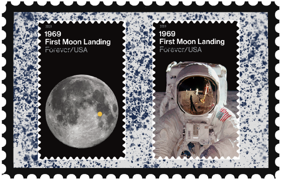 U S  Postal Service Unveils 1969: First Moon Landing Forever Stamps