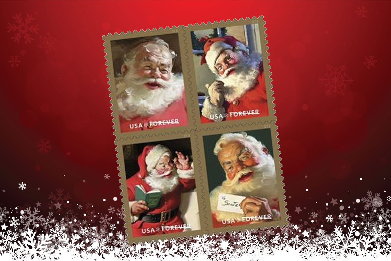 US Postal Service to Issue Iconic Santa Stamps