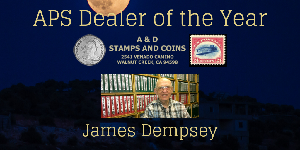 James Dempsey of A & D Stamps and Coins is the APS Dealer of the Year